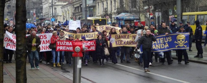 Protest in Belgrade (Serbia) against FX Loans